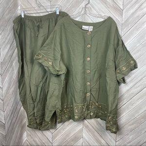 Fashion Bug linen blend Pant Suit 26/28w